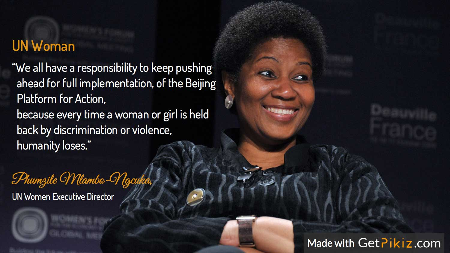 Phumzile Mlambo Ngcuka, UN Women Executive Director