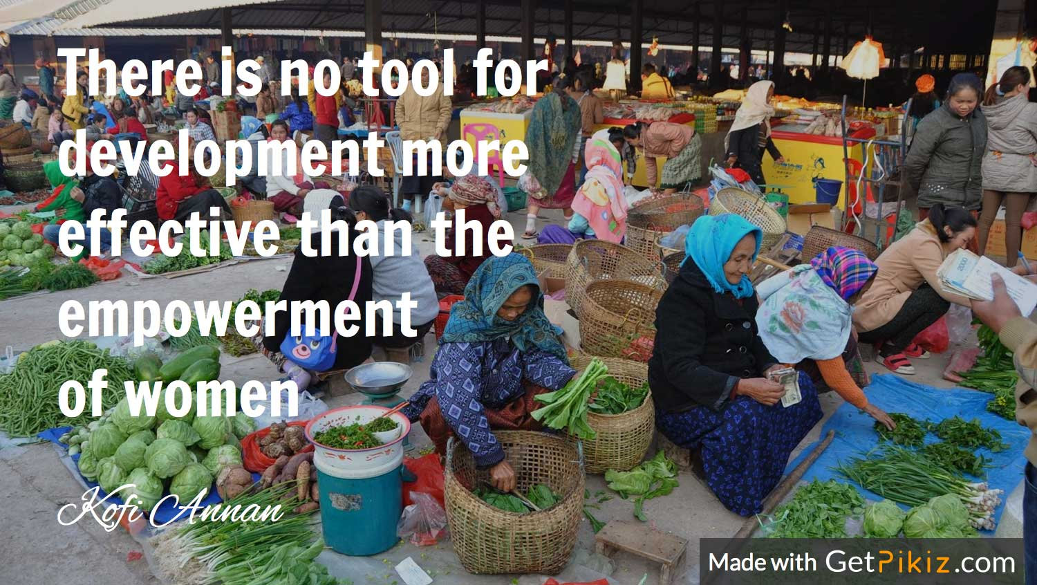 There is no tool for development more effective than the empowerment of women - Kofi Annan